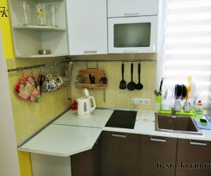 Четырехместный апартаменты на первом этаже с кухней и балконом в комплексе «Капри» № 73